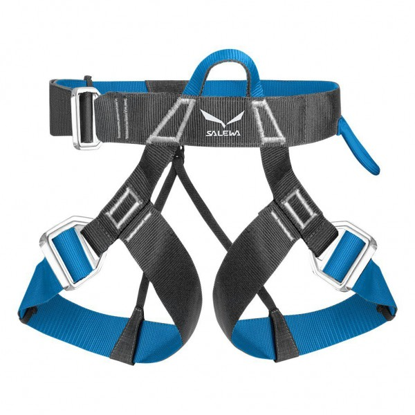 SALEWA VIA FERRATA EVO HARNESS 0788 CARBON/ POLAR BLUE M