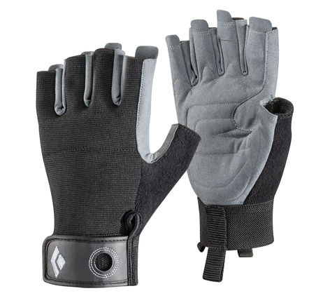 BLACK DIAMOND CRAG HALF-FINGER BLAK Black S