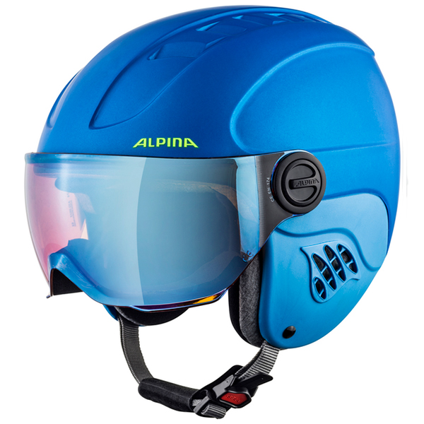 ALPINA CARAT LE Visor HM 82 blue-neon-yellow matt 54