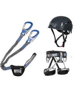 Klettersteigset LACD Via Ferrata Pro Evo 2.0  + LACD  Start Gurt + LACD Protector 2.0 navy