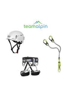 Klettersteigset Edelrid Cable Comfort + LACD Hüftgurt Start + LACD Protector 2.0 Kletterhelm