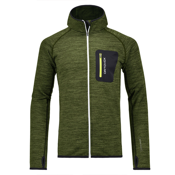 ORTOVOX Ortovox Fleece Melange Hoody M matcha green blend XL