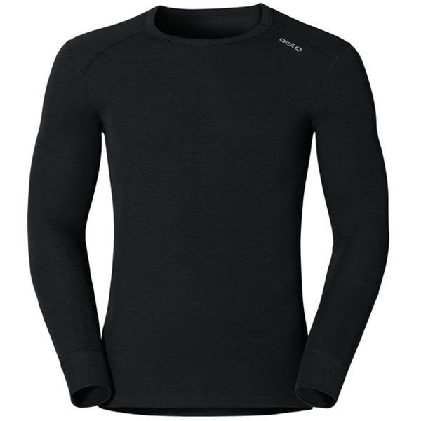 ODLO SHIRT L/S CREW NECK WARM 15000 black L